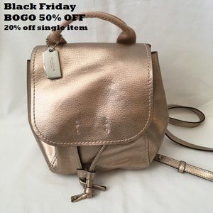 *NWOT* COACH Derby Convertible Backpack, Rose Gold